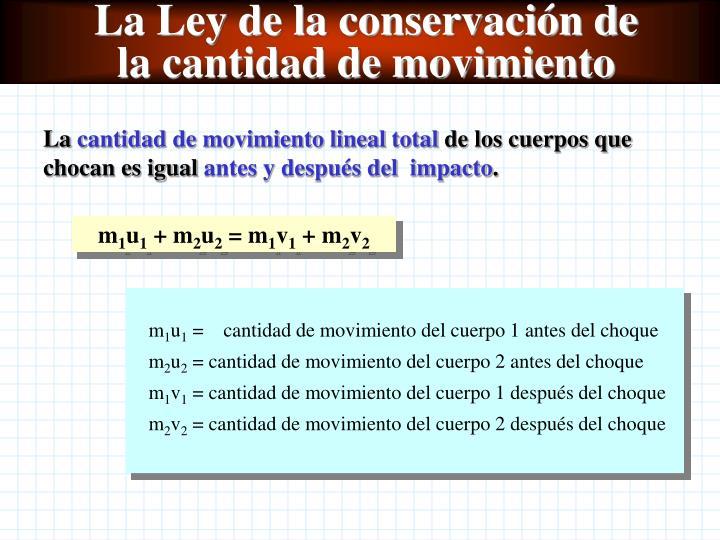 La Ley de la conservación de