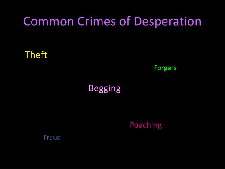Common Crimes of Desperation