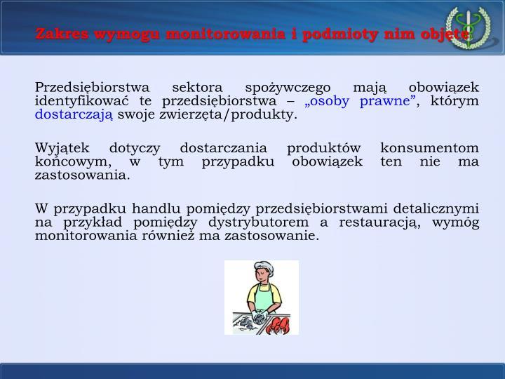 Zakres wymogu monitorowania i podmioty nim objęte