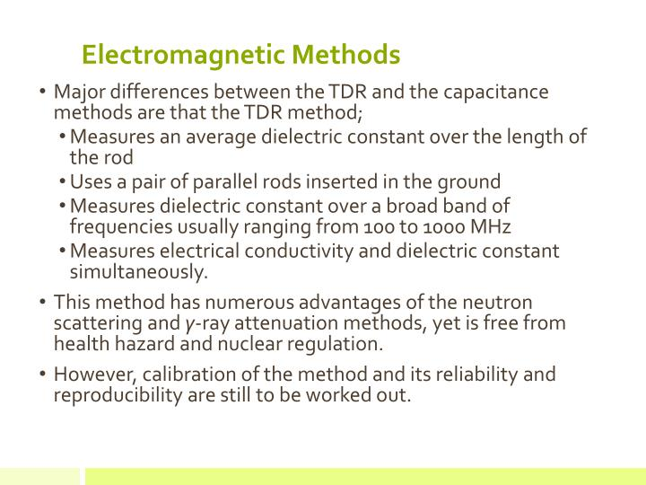 Electromagnetic Methods