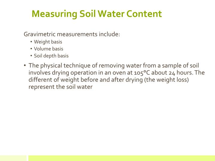 Measuring Soil Water Content