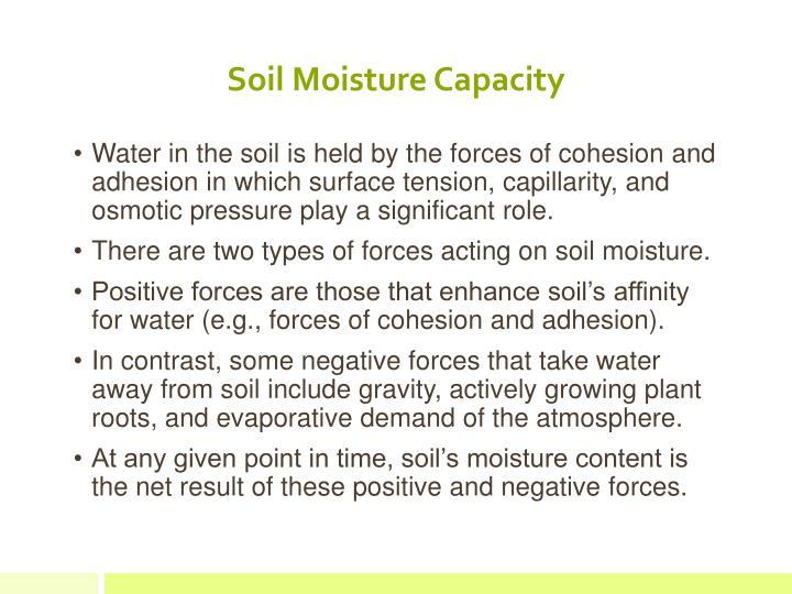 Soil Moisture Capacity