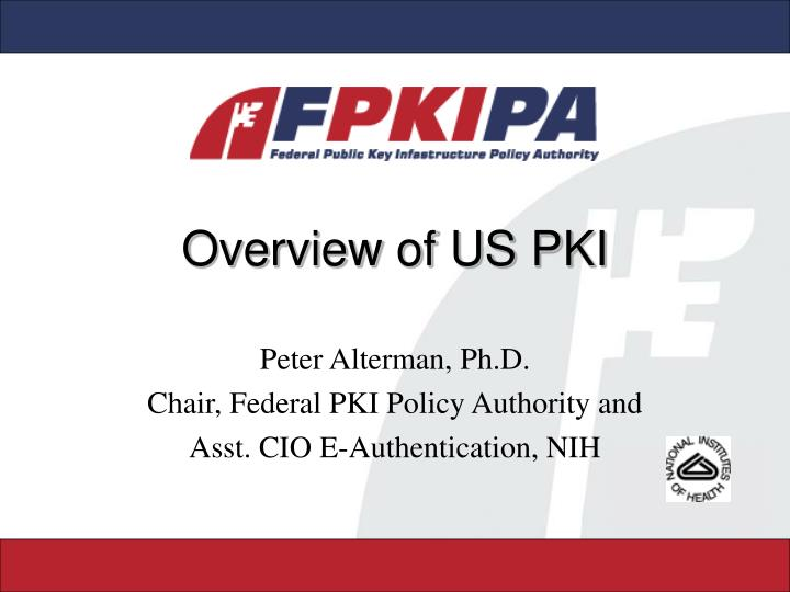 Overview of us pki
