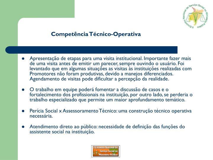 Competência Técnico-Operativa