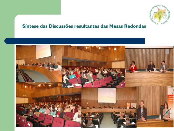 Síntese das Discussões resultantes das Mesas Redondas