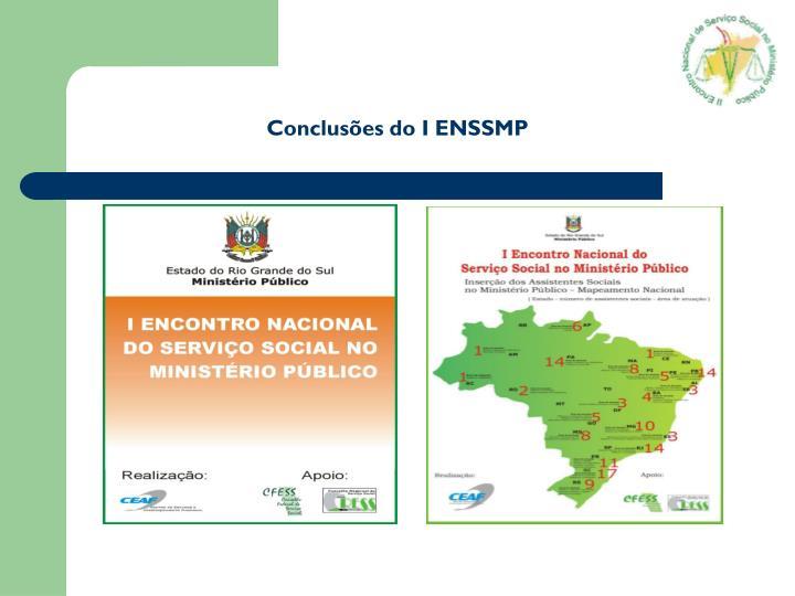 Conclusões do I ENSSMP