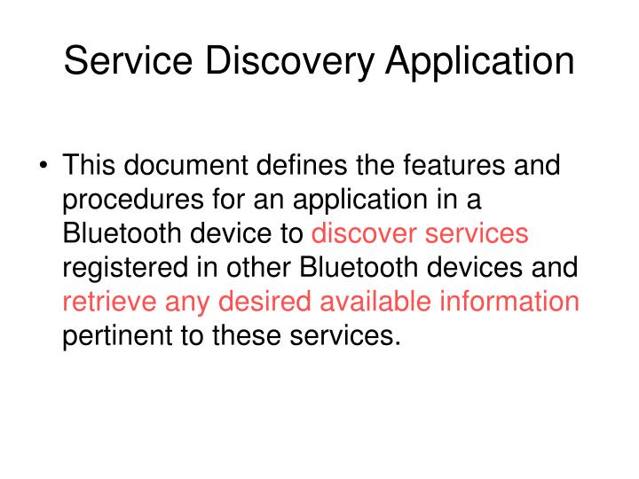 Service Discovery Application