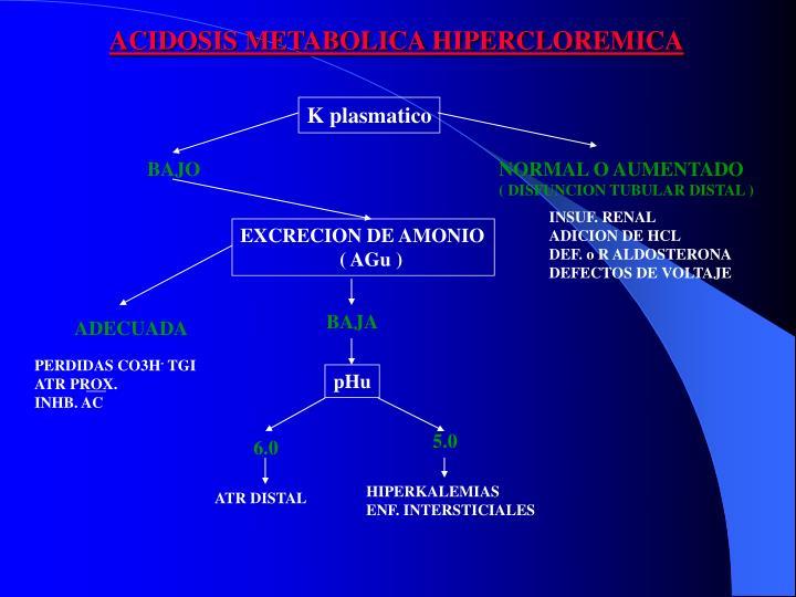 ACIDOSIS METABOLICA HIPERCLOREMICA