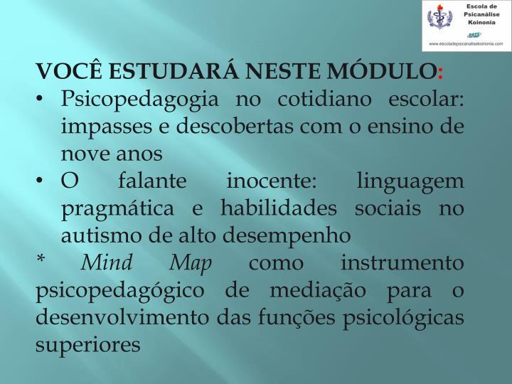 VOC ESTUDAR NESTE MDULO