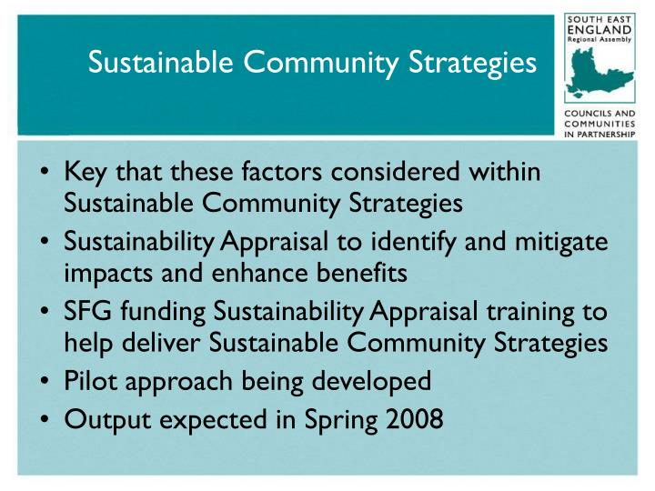 Sustainable Community Strategies