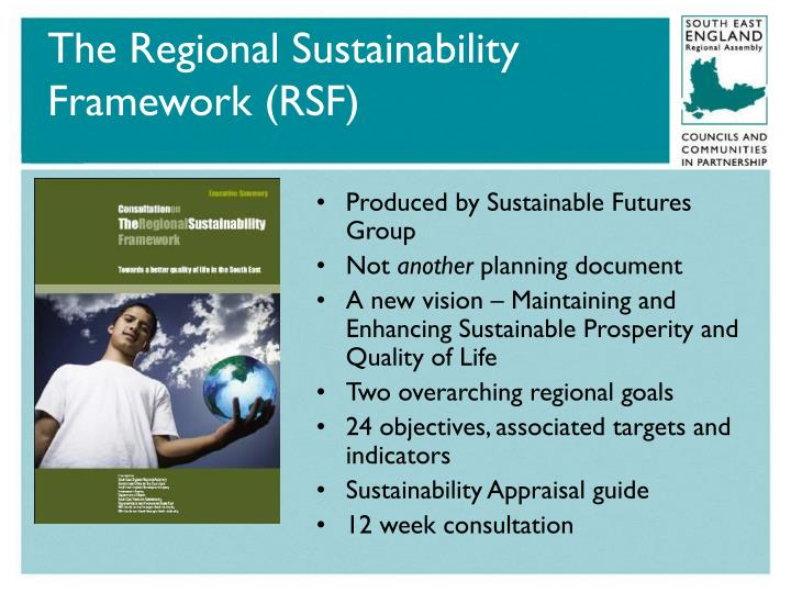 The Regional Sustainability Framework (RSF)
