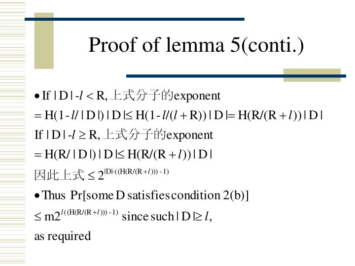 Proof of lemma 5(conti.)