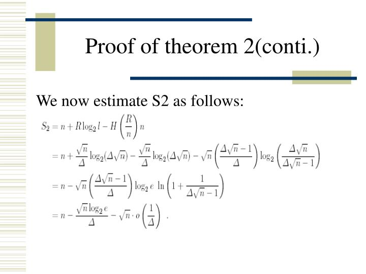 Proof of theorem 2(conti.)
