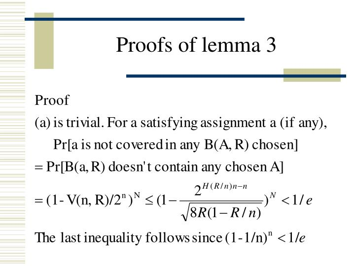 Proofs of lemma 3