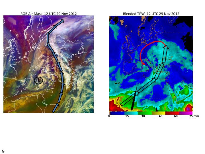 RGB Air Mass  12 UTC 29 Nov 2012