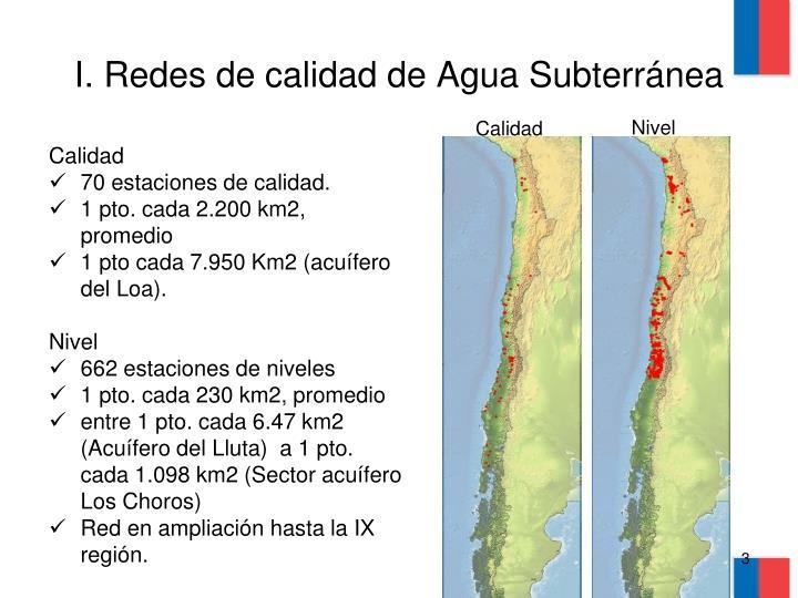 I. Redes de calidad de Agua Subterránea