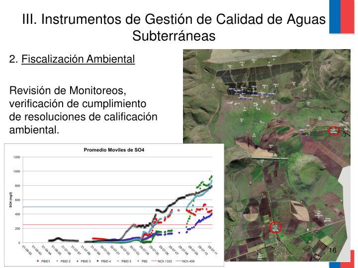 III. Instrumentos de Gestión de Calidad de Aguas Subterráneas