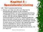 kapittel 5 spesialundervisning