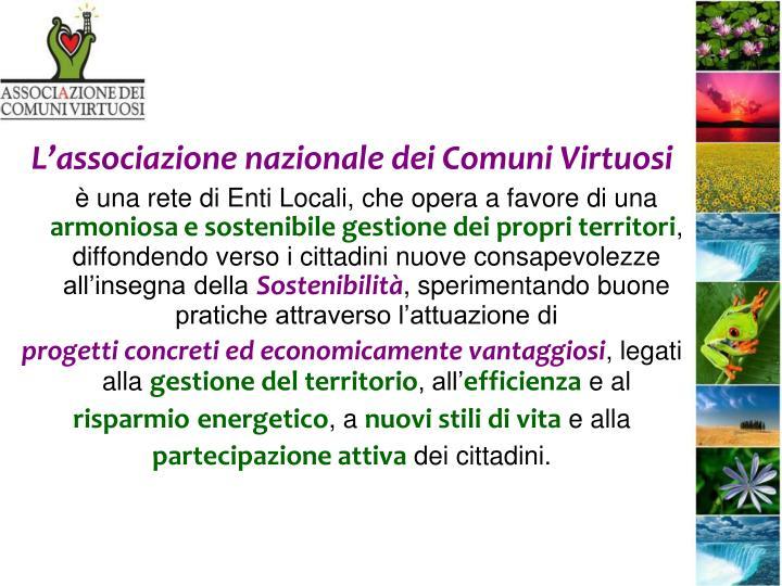 L'associazione nazionale dei Comuni Virtuosi