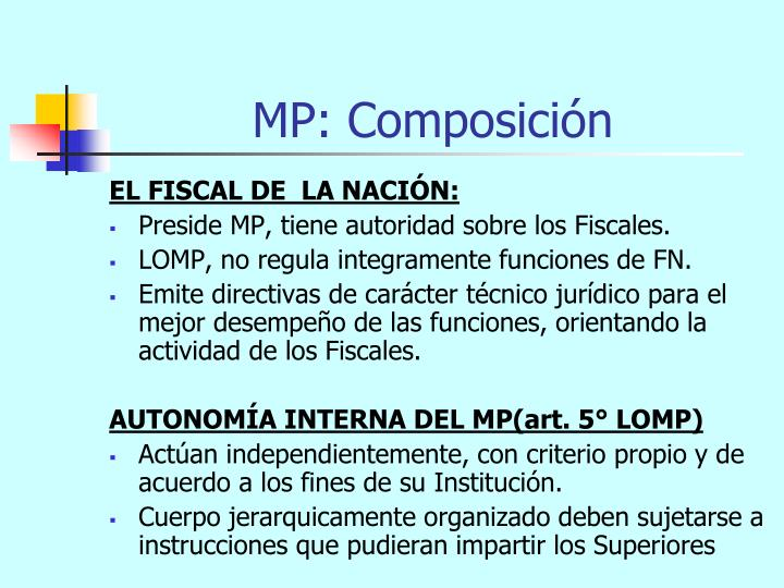 MP: Composición