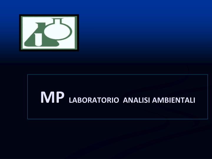 Mp laboratorio analisi ambientali