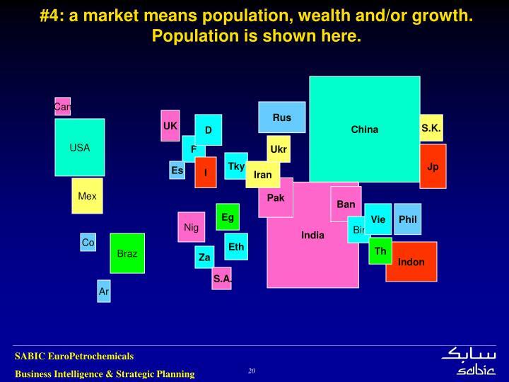 #4: a market means