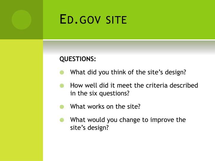 Ed.gov site
