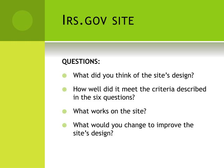 Irs.gov site