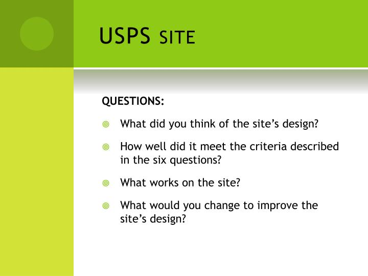 USPS site