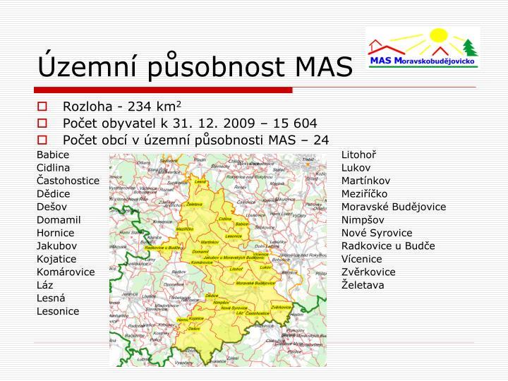 Územní působnost MAS