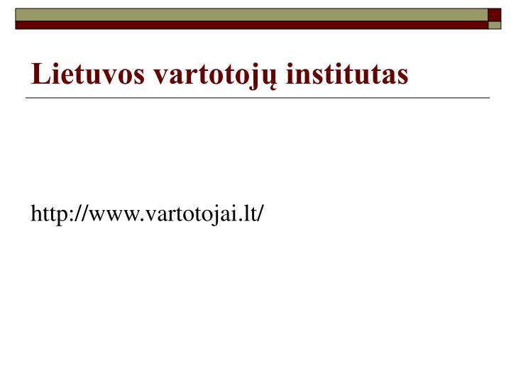 Lietuvos vartotojų institutas