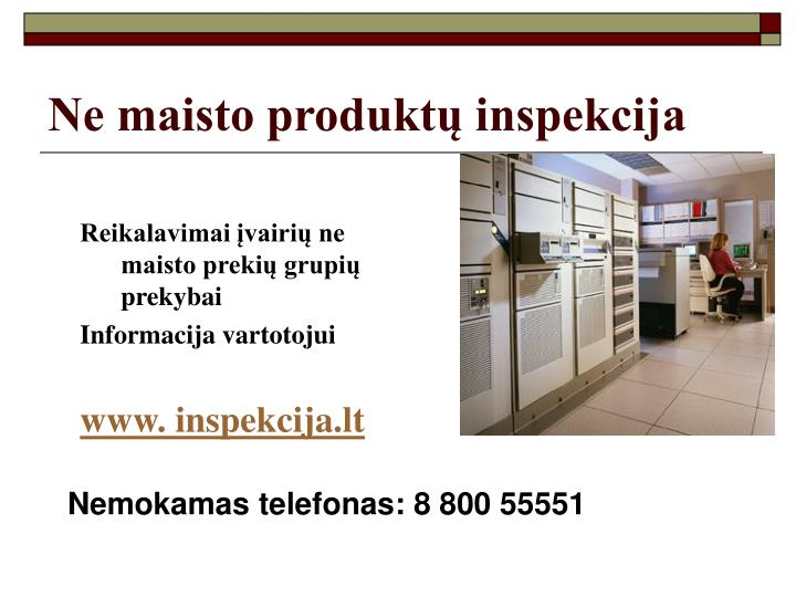 Ne maisto produktų inspekcija