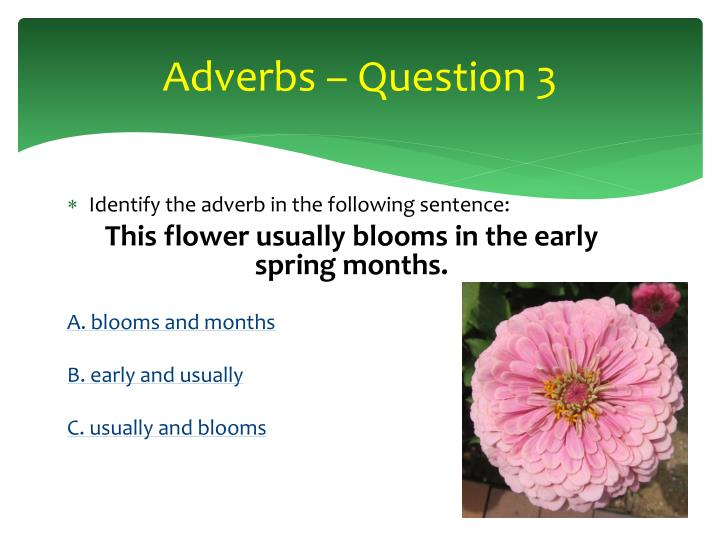 Adverbs – Question 3