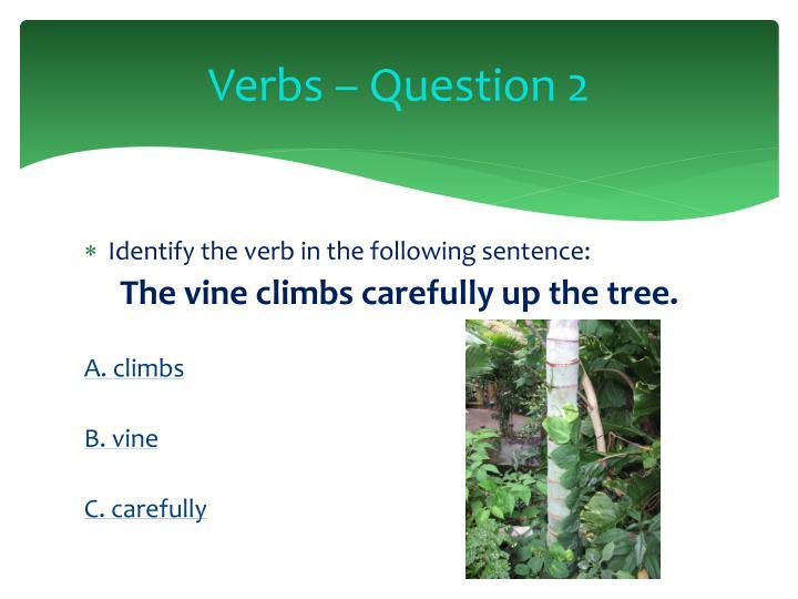 Verbs – Question 2