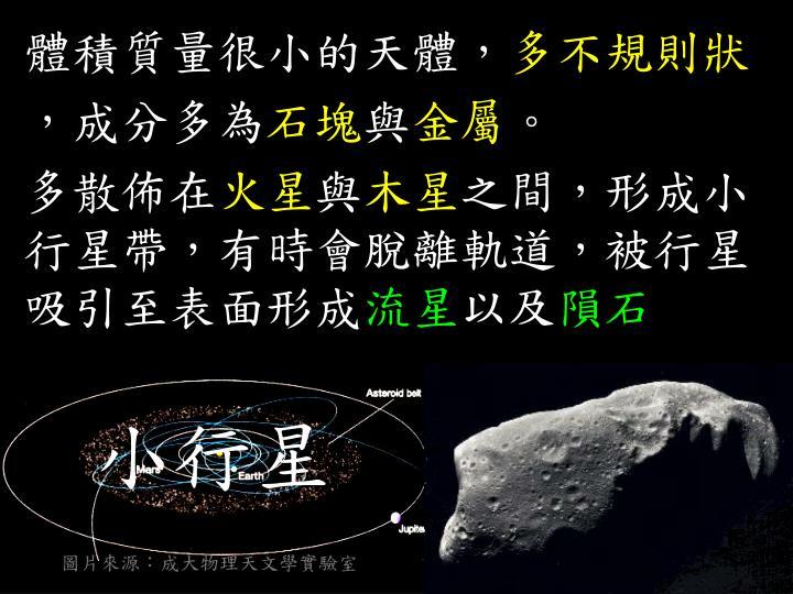 圖片來源:成大物理天文學實驗室