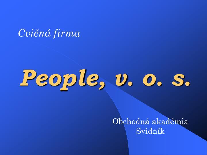 People, v. o. s.