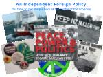 an independent foreign policy it is time to put people back at the centre of the economy