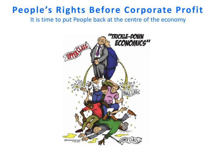 People's Rights Before Corporate Profit