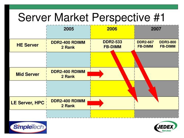 Server Market Perspective #1