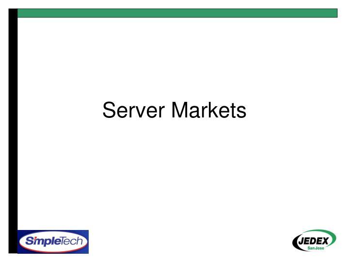 Server Markets
