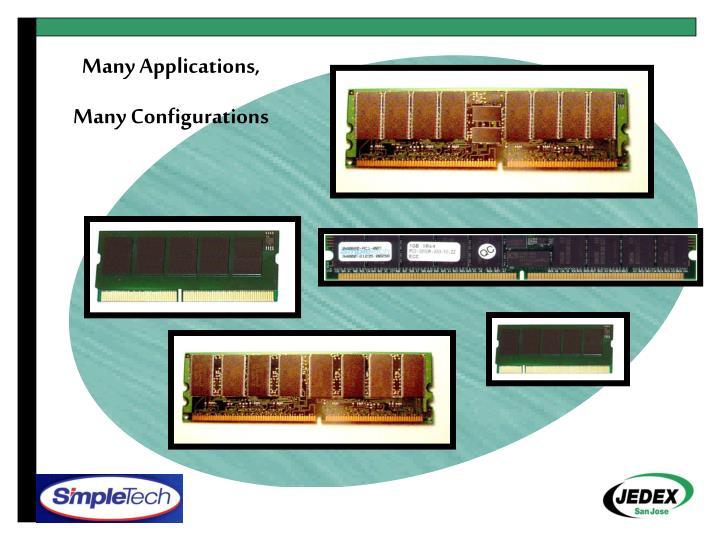 Many Applications,