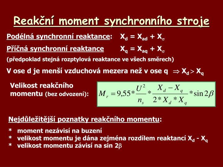 Reakční moment synchronního stroje