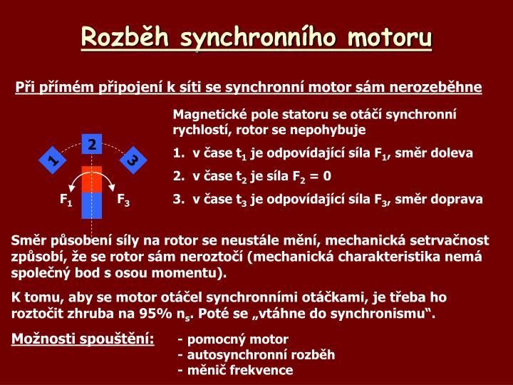Rozběh synchronního motoru