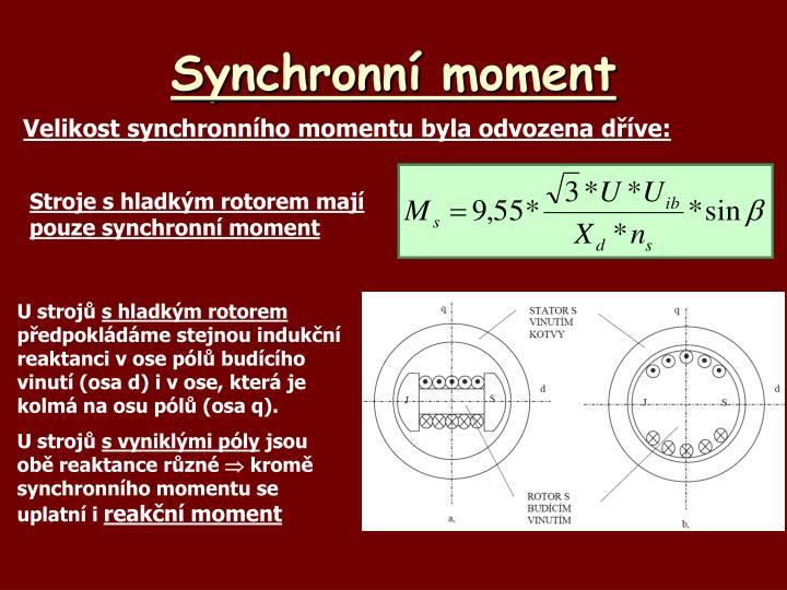 Synchronní moment