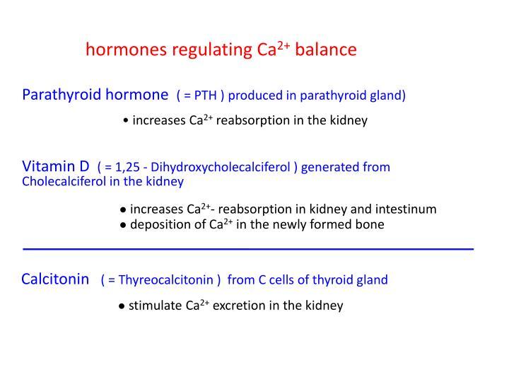 hormones regulating Ca