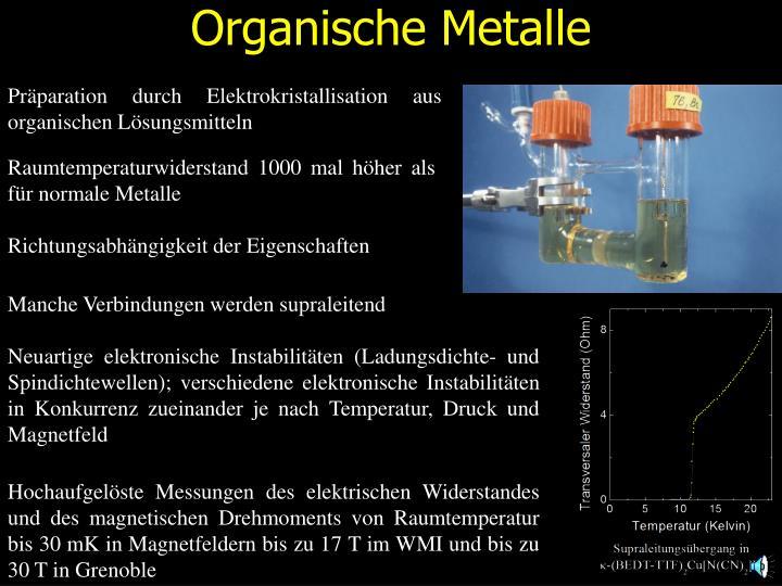 Organische Metalle