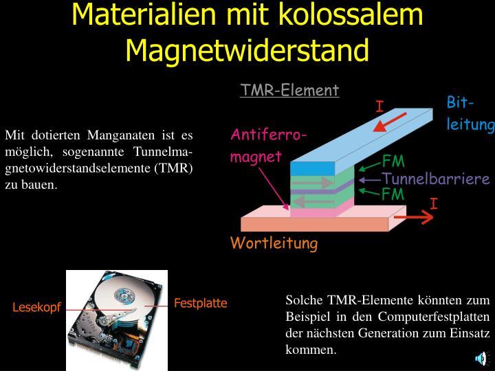Materialien mit kolossalem Magnetwiderstand