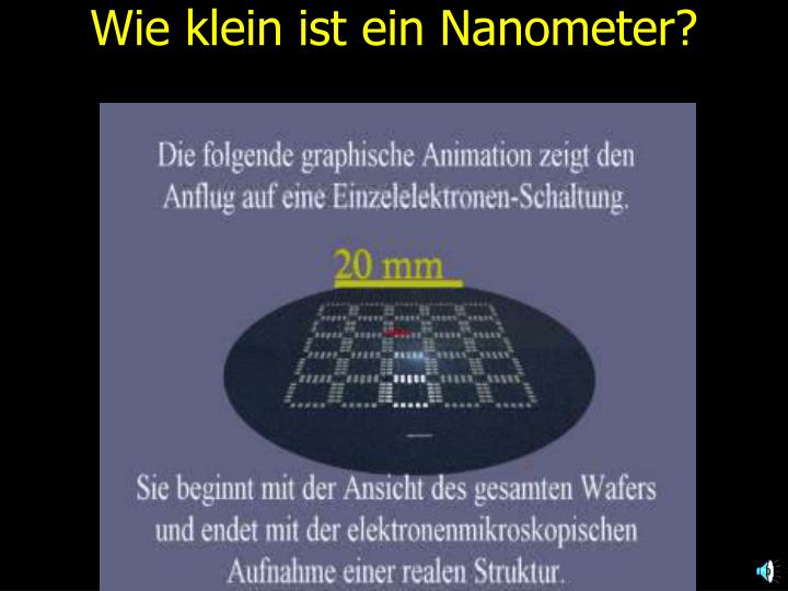 Wie klein ist ein Nanometer?