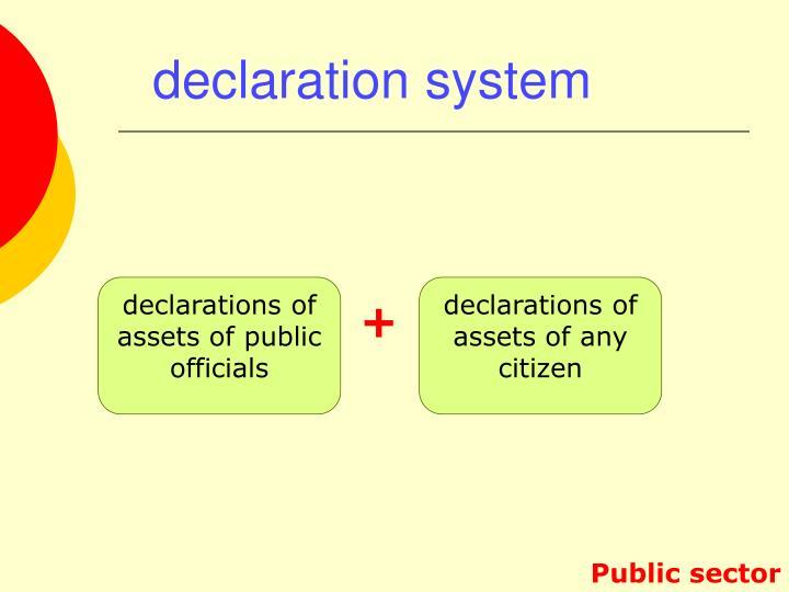 declaration system