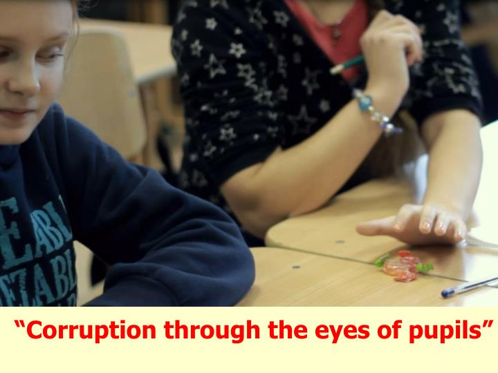 """Corruption through the eyes of pupils"""